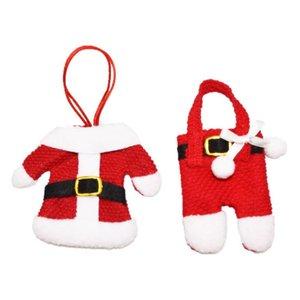 Noel Süslemeleri Çatal Çantalar Otel Restoran Masa Süslemeleri Çatal Seti Hediye Çantası Noel Küçük Giysileri Pantolon Çanta GWA1424