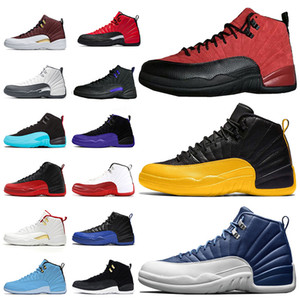 2020 Jumpman 12 Mens Basektball Shoes 12s Reverse Flu Game 12 University Gold Dark Concord Stone Blue XII mens trainers sneakers size 13