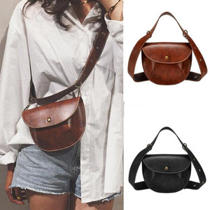 Multi-use Women Leather Belt Bag Phone Pouch Fanny Pack Female Waist Pack Fashion Crossbody Bags for Women #40