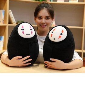 38cm Japonya Anime Spirited Çocuklar Hediye MX200716 için Deplasman Faceless Man Yüzsüz Peluş Yastık Yüzü yok Hayalet Kaonashi Peluş Oyuncak Bebek