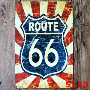 Signos de metal de estaño Barra de la muestra Route66 retro placa de la pared sesión Art Bar etiqueta Hierro Pinturas 20 * 30 cm placas de hierro decorativo bar decoración de la pared DHD1650