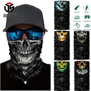 Sciarpe 3D Seamless Balaclava Scarpa Magic Sexy Neck Mask Maschera Ghost Skull Skeleton Testa Bandana Scudo Scudo Fascia Copricapo Uomini Bicicletta da uomo