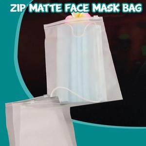 3pcs impermeável translúcido Máscara saco de armazenamento Matte Limpar Armazenamento Plastic Bag Malas de Viagem válvula de corrediça Seal Embalagem # R20