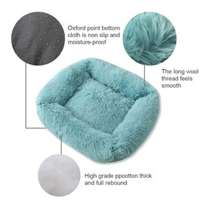 Warm Fleece Dog Bed Round Pet Cushion for Small Medium Large Dogs Cats Long Plush Winter Doghouse Puppy Mat Bed new
