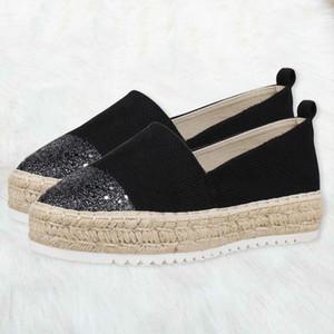 Kayma-on loafer'lar Kadınlar Tembel Ayakkabı Rhinestones Casual Kamalar Platformu Loafers Tek Ayakkabı Karışık Renkler Kristal Single ile