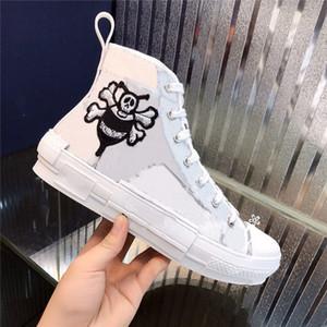 Beliebte Damen Herren Hoch-Spitze beiläufige Schuh-Turnschuh-Blumen-Stickerei Technische Schuhe Oblique Trainer Turnschuhe Chaussures 35-45