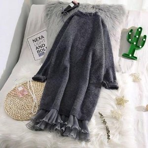 Fashion Sweater Women Korean version over the knee autumn and winter sweater for women new knitted sweater dress 200923