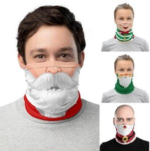 Chirstmas Face Shield Bandana Face Mask Outdoor Sports Bandana Mask Magic Headscarf Headband Neck Gaiter Christmas Decoration Gifts whosale