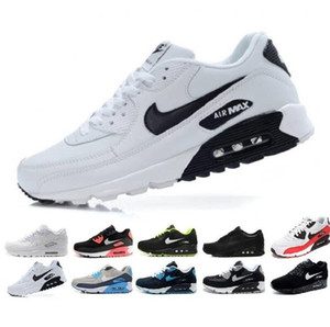 Men womens Casual Shoes 90 Air Cushion classic Max 90s Sneakers Surface Breathable Black Red White Running Sport Athletic Trainers