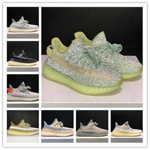adidas Uomo donna di alta qualità Kanye 3M Lino riflettente Scarpe da corsa sportive leggere Scarpe da ginnastica occidentali Scarpe da ginnastica sportive