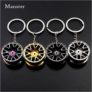 Auto Turbo Hub Keychain Rim Luxury Zinc Alloy Fob Wheel Tire Styling Car Key Chain Keyring As Birthday Gif