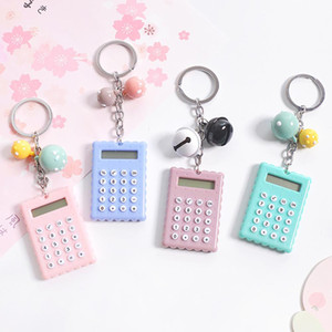 Cute mini student exam learning essential small calculator portable color multifunctional small square 8 digit calculator