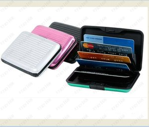 Hot sales Aluminium Credit card wallet cases card holder,bank card case wallet Black,10 colors available,Free shipping