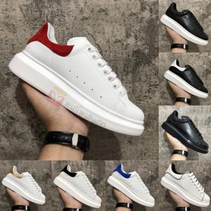 2020 luxe mode männer frauen schuhe schwarz weiß leder samt plattform womens turnschuhe leger mädchen trainer dress casual schuh chaussures