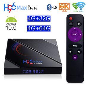 صندوق TV 5G واي فاي الذكية الروبوت 10.0 4GB 64GB بلوتوث 4.0 ALLWINNER H616 رباعية النواة تعيين كبار مربع مع شاشة LED 2020 H96 ماكس H616 4G32G 2G16G