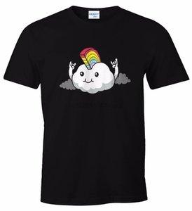 hommes occasionnels T-shirt imprimé hommes de mode T-shirt chemise expression fun iroquoise nuages nuages chemise T-shirt