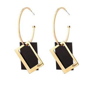 American and American exaggerated earrings of big brand ring 2020 new trend Korean temperament long earrings web celebrity individual charac