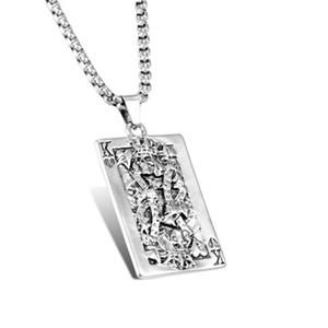 Tarjeta FashionPlaying Hip Hop MusicFestivalGiftAccessories de acero de titanio collar masculino viejo K pendiente del metal Chaoren cráneo HeadRock