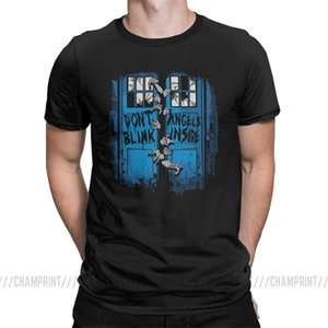 The Walking Angels Dead T Shirt Men Doctor Who Zombies Dont Blink Unique Tops Short Sleeve Vintage T-Shirt Crew Neck Cotton Tees X0923