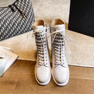 Chanel Martin Stiefel handgemachte Schuhe der ledernen Frauen beiläufige Aufladungen einzelne Stiefel xy200905
