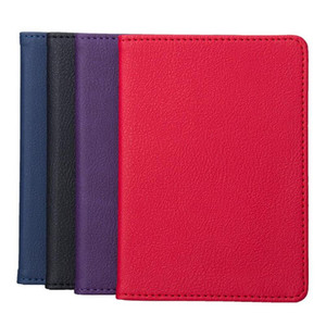 Solid Color Portable Travel Faux Leather Passport Ticket Holder Double-edged Card Storage Bag High-grade Leather Passport Cover