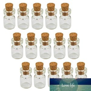 0.5ML 10X18X5MM Small Mini Clear Glass Cork Vials with Wood Stoppers  Message Weddings Wish Jewelry Party Favors Bottle Tube