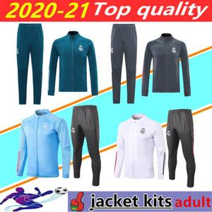 2020 2021 Real Madrid di calcio formazione tuta Giacca 20/21 camiseta de futbol PERICOLO DI BENZEMA MODRIC jogging calcio Tuta