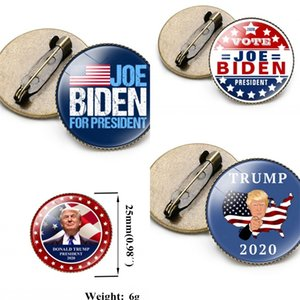 Biden Trump Brooches Letter Lapel Pins Supporter Badge America General Election Tinplate Many Styles Fashion 1 2nh F2