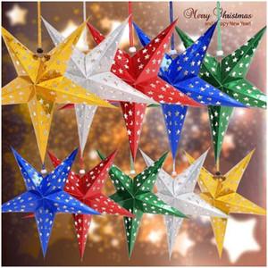 Papier Pendentif Étoile de Noël Arbre de Noël Hanger Nouvel An Accueil Parti Décorations Ornements Pendentif pour la maison