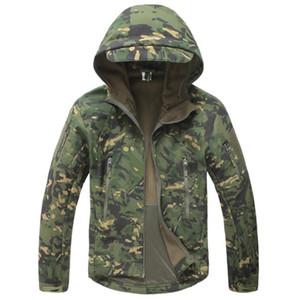 Tactical Jacket Men Military Camouflage Shark Skin Soft Shell Waterproof Hooded Jackets Outdoor Camo Fleece Warm Raincoat Coats X0923 X0923