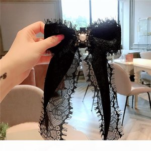 Korean Ribbon Brooches for Women Lace Bowtie Pearl Crystal Collar Pins Fashion Jewelry Bow Tie Corsage Girl Shirt Ties Cravat