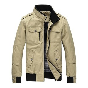 Brand New Men's Jacket Coat Male Coats Cotton Solid Stand Collar Casual Jackets Men Coat Outwear Brand Clothing