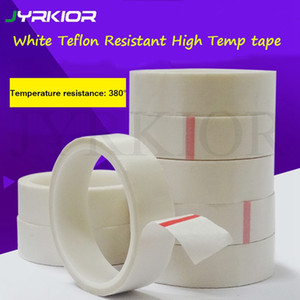 Jyrkior White Teflon High Temperature Adhesive Cloth Tape Sealing Tape PTFE Thermal Insulation And Wear Resistant