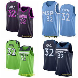 Karl-Anthony 32 Towns Kevin 21 Garnett Andrew 22 Wiggins Blue Basketball Jerseys Minnesota de los hombresLobosJersey 0909