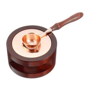 Stamp 2 pezzi vintage Wax Seal Beads Sticks Sticks un aumento della temperatura di fusione a cera Colla Fornace cucchiaio strumento della stufa a sigillo di cera di candela