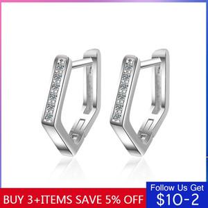 Codemonkey Or Argent Couleur Hoop Design Simple Boucles d'oreilles errements 100% 925 bijoux en argent sterling de la mode Faire CME362