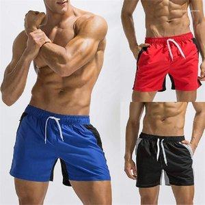 Mode vacances Sport Shorts Hommes Vêtements d'été Hommes Plage Oversize Shorts Patchwork Longueur genou Pantalons simple Hommes Vêtement léger