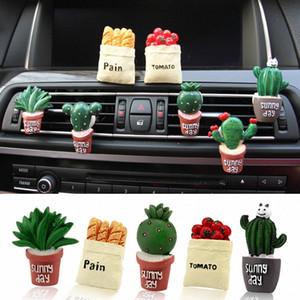 자동차 3D 공기 청정기 시뮬레이션 벤트 출구 에어컨 향수 클립 자동차 장식 창조적 인 인테리어 소품 YR6q 번호를 식물