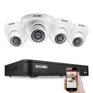 Zosi H.265 4CH 1080P Analog AHD TVI نظام مراقبة فيديو CCTV كيت مع كاميرات مراقبة أمن DVR كاميرا الفيديو للمنزل