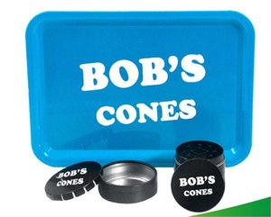 BoB Cigarette 420 Rolling Tray with 1pc Tobacco Grinder 4 Parts 1PC Jar for Herb Grinder for Smoking Accessories