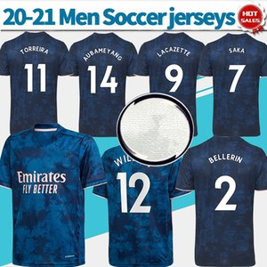 2020 2021 Gunners futbol forması üçüncü PEPE WILLIAN Aubameyang Topçu futbol gömlek özelleştirilmiş Futbol üniforma satış öncesi