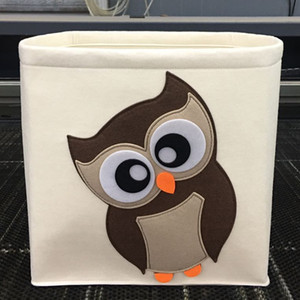 Toy Storage Bucket Household Laundry Basket Folding Felt Cartoon Laundry Basket Storage Box Non Woven Cloth Dirty Clothes Basket