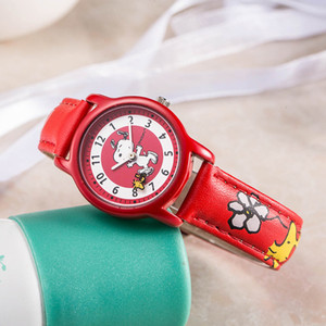 Snoopy kids watch women watches casual Quartz Wristwatches watches cute snoopy leather children clock gift LJ200911