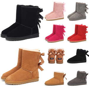 australian women snow boots chestnut fur woman classic ankle satin