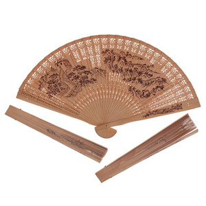 300pcs Wooden Folding hand fans Chinese Traditional Hollow Fan Wooden Hand Made Exquisite Folding Wedding Gift NO293