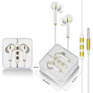 Wholesale 3.5mm aux jack connectors TPE Earbuds headphone 1.2 M handsfree stereo in-ear wired earphones for iPhone ipad