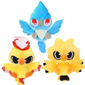 Cute Kawaii Moltres Articuno Запдос Плюшевые Птицы животных игрушки 30см