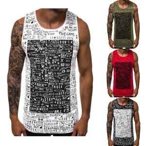 Printed Mens Summer Designer Tank Tops Crew Neck Sleeveless Underwear Fashion Sports Style Mens Underwear Casual Letter