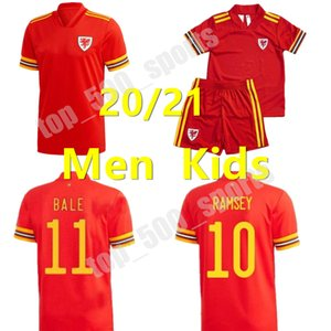 2020 Soccer Jersey Welsh Wales hommes et enfants kit RAMSEY BALE GIGGS SPEED ROBSON KANU RUSH CHESTER ALLEN Gallois football shirt