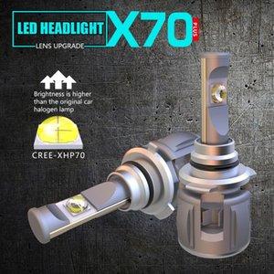 1 مجموعة H8 H9 H11 120W 15600LM XHP-70 عدسة رقائق X70 سيارة LED مصباح المصباح الأمامي لمبات H4 H7 9005/6 3/4 9012 D1S / D2S / D3S / D4S 6K